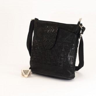 КОД: 0049C-17 Малка дамска чанта от естествена кожа на парчета