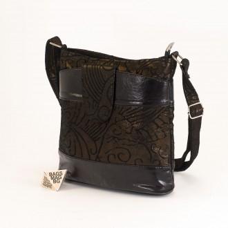 КОД: 0049C-19 Малка дамска чанта от естествена кожа на парчета