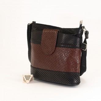 КОД: 0049C-2 Малка дамска чанта от естествена кожа на парчета