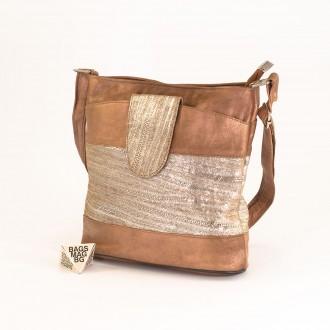 КОД: 0049C-3 Малка дамска чанта от естествена кожа на парчета