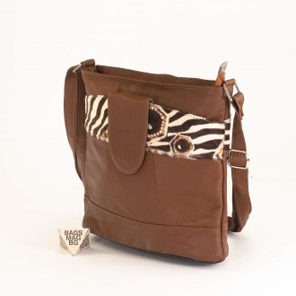 КОД: 0049C-4 Малка дамска чанта от естествена кожа на парчета