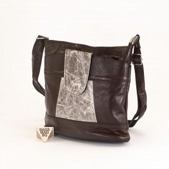 КОД: 0049C-5 Малка дамска чанта от естествена кожа на парчета