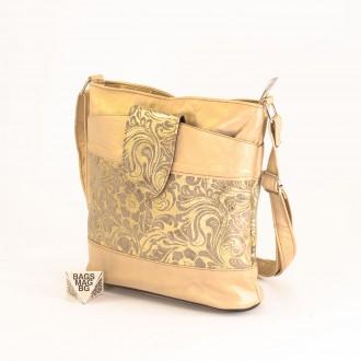 КОД: 0049C-6 Малка дамска чанта от естествена кожа на парчета