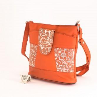 КОД: 0049C-10 Малка дамска чанта от естествена кожа на парчета