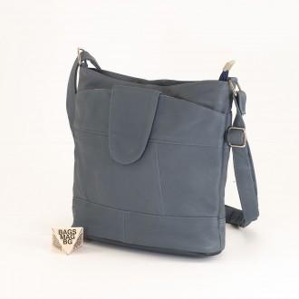 КОД: 0049C-8 Малка дамска чанта от естествена кожа на парчета