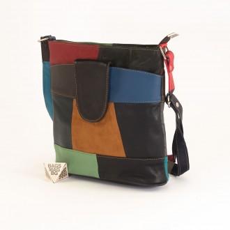 КОД: 0049C-9 Малка дамска чанта от естествена кожа на парчета