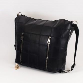 КОД: 0061 Дамска чанта от естествена кожа в тъмно син цвят