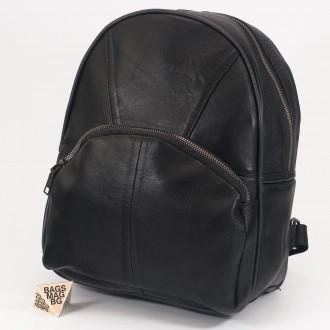 КОД: 0101 Дамска раница от естествена кожа на парчета в черен цвят