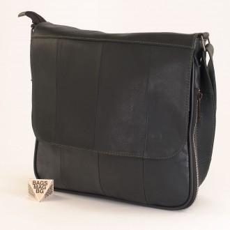 КОД : 01014 Чанта от естествена кожа в цвят деним