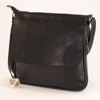 КОД : 01014 Чанта от естествена кожа в черен цвят
