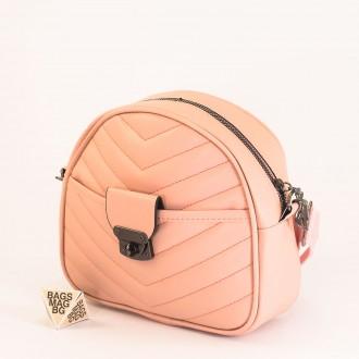КОД: 01044-4 Малка дамска чанта от еко кожа в розов цвят