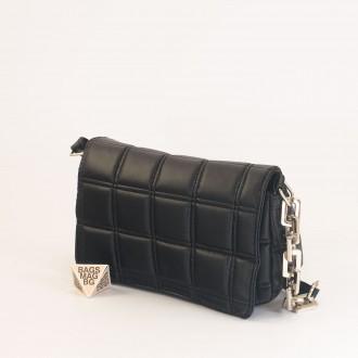 КОД: 01044-5 Малка дамска чанта от еко кожа в черен цвят