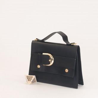 КОД: 01044-2 Малка дамска чанта от еко кожа в тъмно син цвят