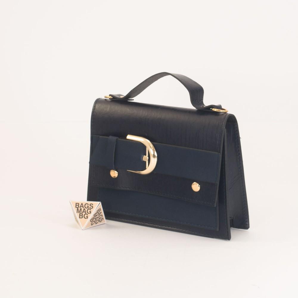 КОД: 01044-2 Малка дамска чанта от еко кожа в черен цвят