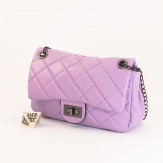 КОД: 01044-3 Малка дамска чанта от еко кожа в лилав цвят