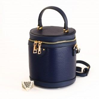 КОД: 0228 Малка дамска чанта от плътна и висококачествена еко кожа в син цвят