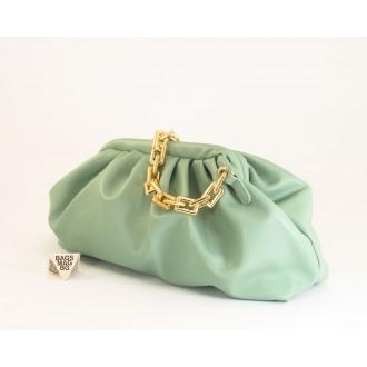 КОД: 0618 Дамска чанта от плътна и висококачествена еко кожа в цвят мента
