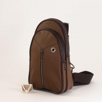 КОД: 0710 Мъжка чанта от естествена кожа в кафяв цвят