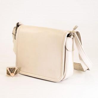 КОД: 0772 Дамска чанта от естествена кожа в светло бежов цвят