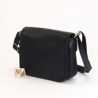 КОД: 0772 Дамска чанта от естествена кожа в черен цвят
