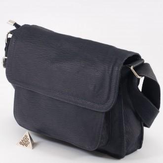 КОД : 0777 Чанта от естествена кожа в тъмно син цвят