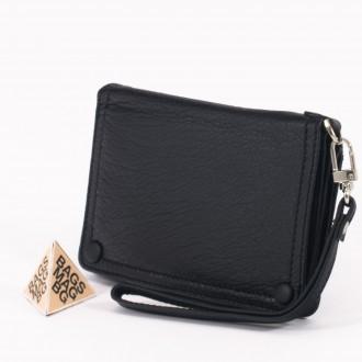 КОД : 1506 Дамски портфейл от естествена кожа в черен цвят