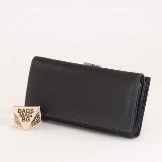КОД : 1519 Дамски портфейл от естествена кожа в сив цвят