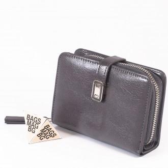 КОД : 2335 Дамски портфейл от плътна и висококачествена еко кожа в сив цвят