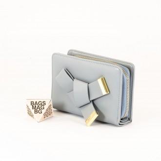 КОД : 277 Дамски портфейл от плътна и висококачествена еко кожа в син цвят