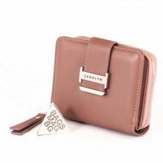КОД : 580 Дамски портфейл от плътна и висококачествена еко кожа в розов цвят