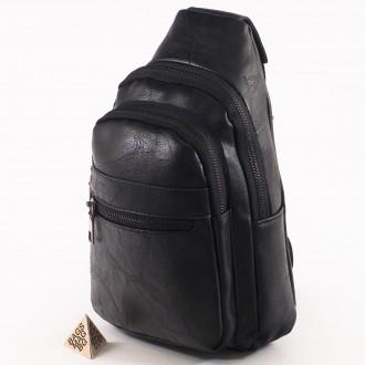 КОД: 60900 Мъжка чанта от плътна и висококачествена еко кожа в черен цвят