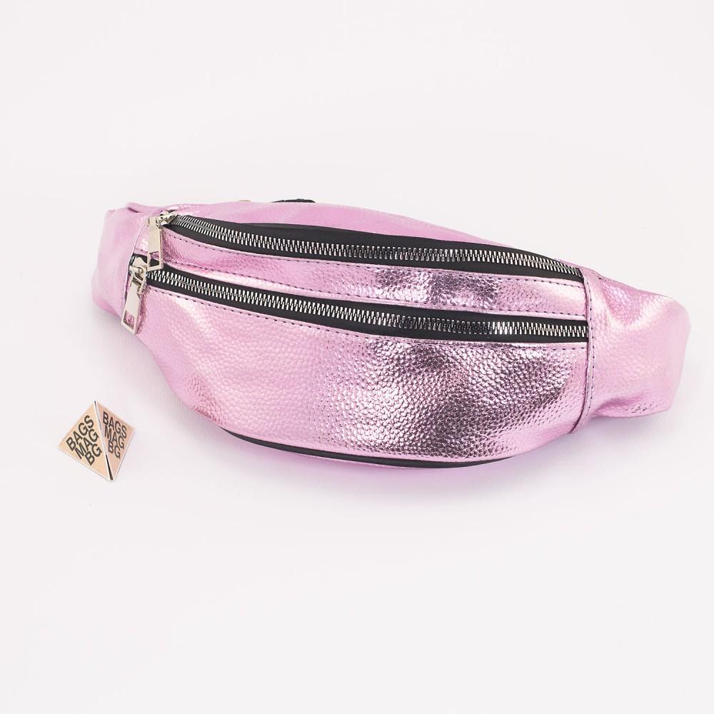 КОД : 80192 Дамска паласка от еко кожа в розов цвят