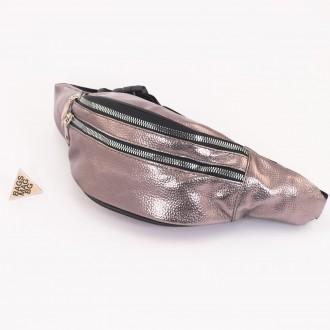 КОД : 80192 Дамска паласка от еко кожа в цвят бронз