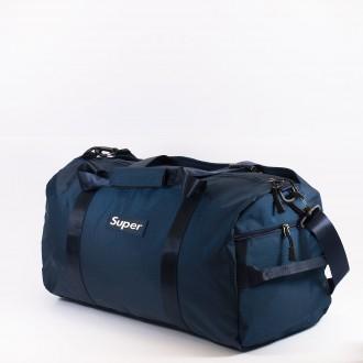 КОД: 8088 Пътна чанта/сак от текстил в тъмно син цвят