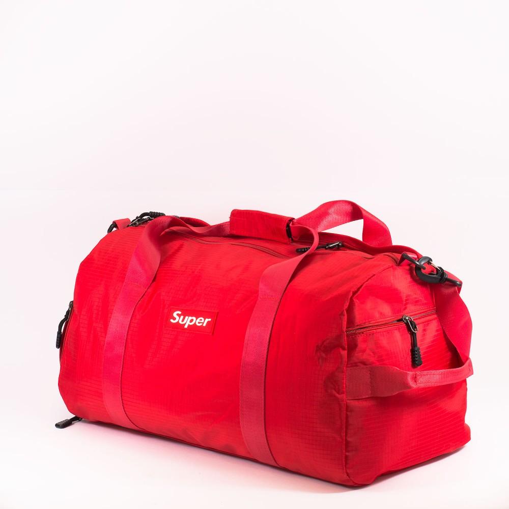 КОД: 8088 Пътна чанта/сак от текстил в червен цвят