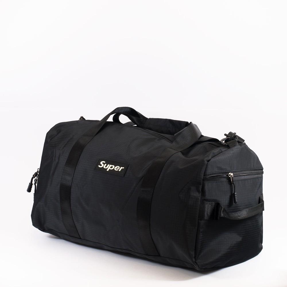КОД: 8088 Пътна чанта/сак от текстил в черен цвят