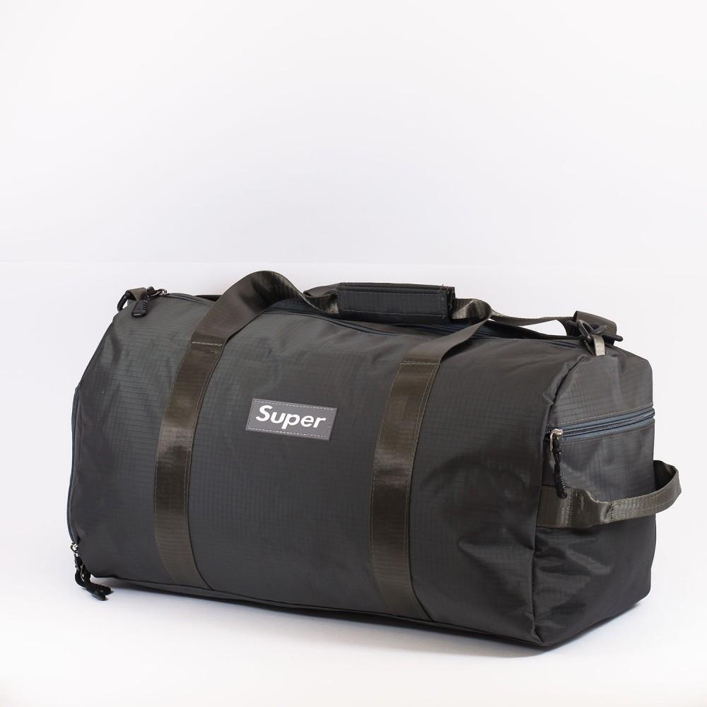 КОД: 8088 Пътна чанта/сак от текстил в сив цвят