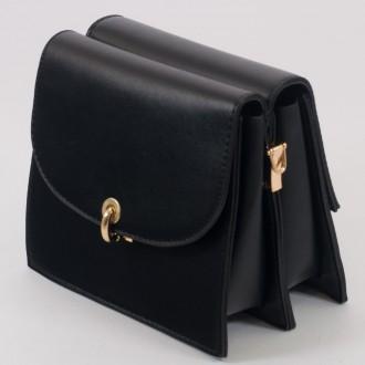 КОД : 8862 Малка дамска чанта с две лица от плътна и висококачествена еко кожа в черен цвят