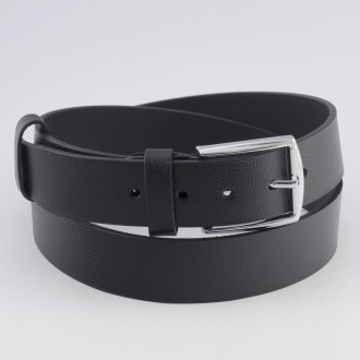 КОД K011 Гигант Мъжки колан от плътна и висококачествена - телешка естествена кожа 3,5 см в черен цвят