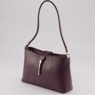КОД : 0041 Малка дамска чанта от естествена кожа в лилав цвят