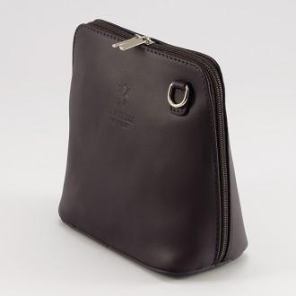 КОД : 0018 Малка дамска чанта от естествена кожа в цвят кафе