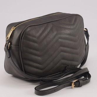 КОД: 8006 Малка дамска чанта от плътна и висококачествена еко кожа в сив цвят