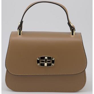 КОД : 0036 Дамска чанта от естествена кожа в цвят карамел