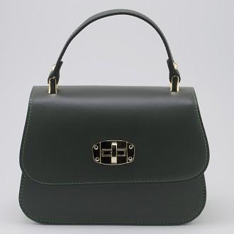КОД : 0036 Дамска чанта от естествена кожа в зелен цвят