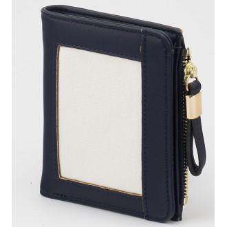 КОД : 24319 Дамски портфейл от плътна и висококачествена еко кожа в тъмносин цвят