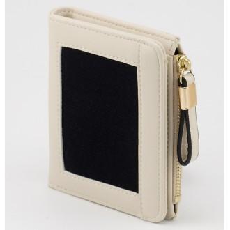 КОД : 24319 Дамски портфейл от плътна и висококачествена еко кожа в цвят слонова кост