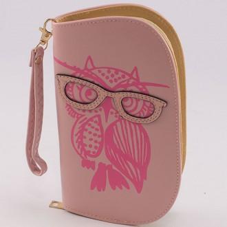 КОД : 0170 Дамски портфейл от плътна и висококачествена еко кожа в розов цвят