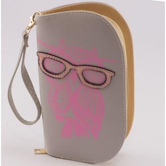 КОД : 0170 Дамски портфейл от плътна и висококачествена еко кожа в сив цвят