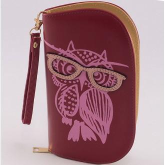 КОД : 0170 Дамски портфейл от плътна и висококачествена еко кожа в червен цвят
