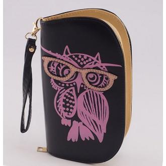 КОД : 0170 Дамски портфейл от плътна и висококачествена еко кожа в черен цвят